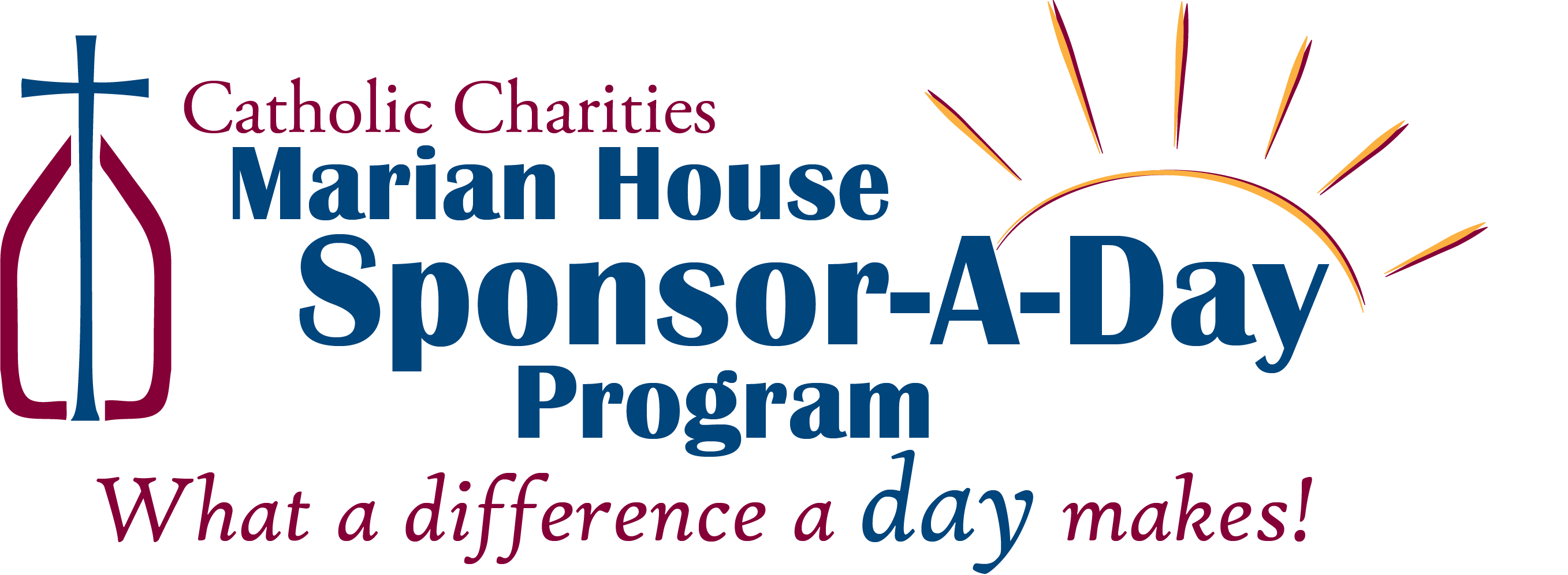 Marian House Sponsor A Day Logo in color