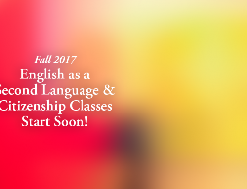 English as Second Language & Citizenship Classes Start Soon!