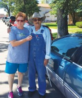 Couple with donated car