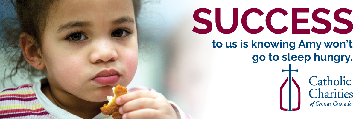 An ad with a small girl eating a chicken nugget