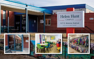 Photo collage of the Helen Hunt Campus