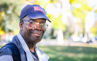 picture of a veteran helped by the Marian House