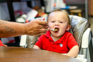 child eating at Marian House