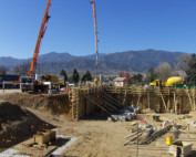 a picture of the construction site of the new Marian House